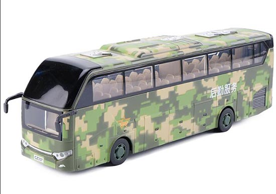 Kid Army Green Die-Cast Military Logistics Service Coach Bus Toy