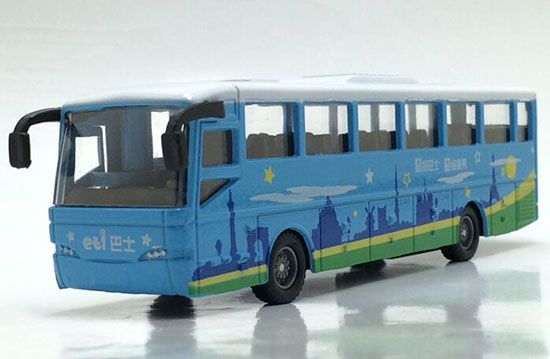 Blue Pull-Back Function Kids Die-Cast City Bus Toy