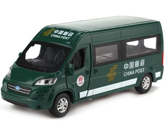 Kids Green China Post Die-Cast Ford Transit Van Bus Toy
