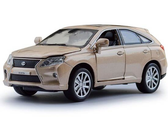 White / Red / Blue /Golden Kids 1:32 Scale Diecast Lexus RX450h