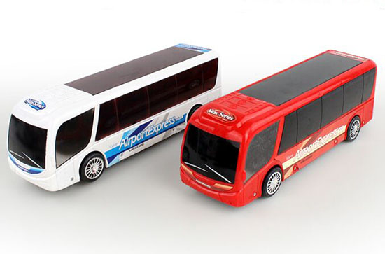 Red / White Plastic Electric Airport Express Coach Bus Toy