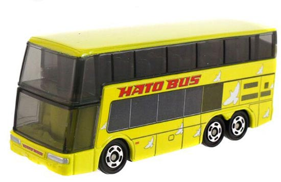 Yellow Kids 1:156 Scale Die-cast Double Decker HATO Bus Toy