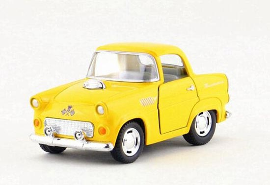 Kids Yellow /White /Blue / Green Diecast 1955 Chevrolet Car Toy