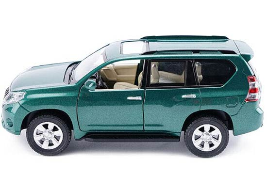 Kids Black /White /Green Diecast Toyota Land Cruiser Prado Toy