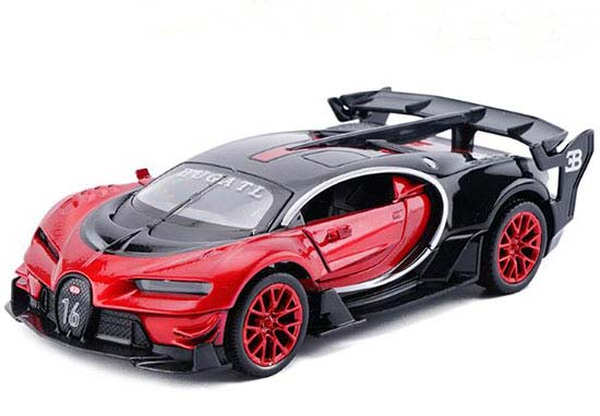 Red / Yellow / Blue Kids 1:32 Diecast Bugatti GT Toy