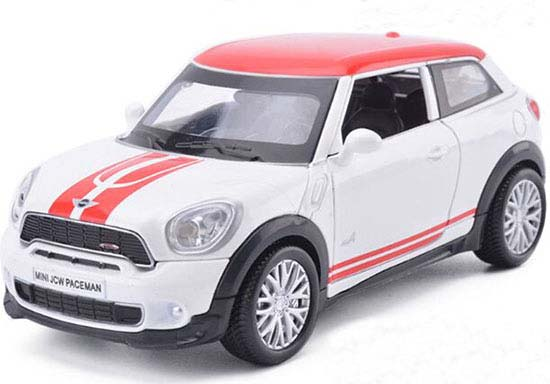 White /Black / Red / Green 1:32 Diecast Mini Cooper Paceman Toy