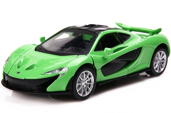 1:32 Kids Green / Yellow / White Diecast McLaren P1 Toy