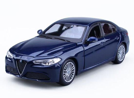 1:24 Bburago Wined Red / Blue Diecast Alfa Romeo Giulia Model