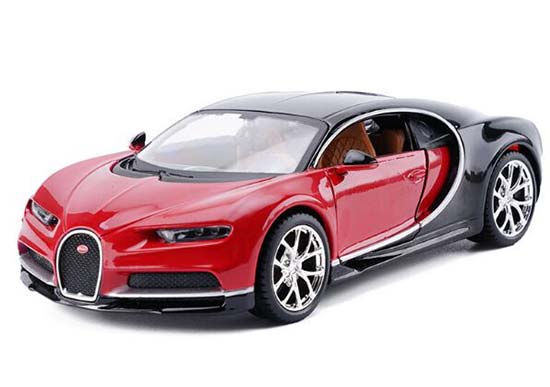 1:24 Scale Maisto Blue /Red / Gray Diecast Bugatti Chiron Model