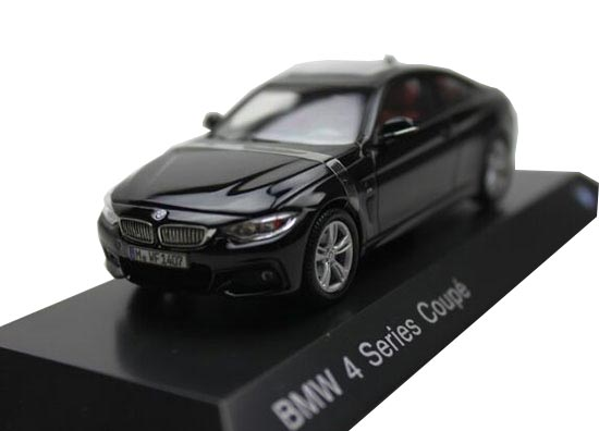 Black 1:43 Scale Diecast BMW 4 Series Coupe Model