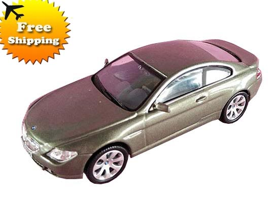 1:43 Scale Kids Gray / Black Diecast BMW 6 Series Toy