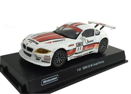 1:43 Red-White Motorama Diecast BMW Z4 M Coupe Racing Model