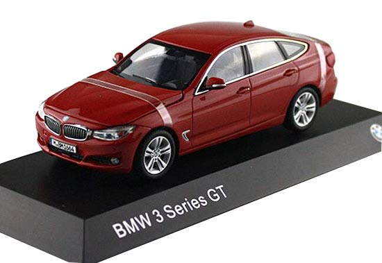 1:43 Scale Red / White / Black Diecast BMW 3 Series GT Model