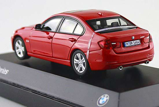 1:43 Scale Red / White / Gray Diecast BMW 3 Series Model
