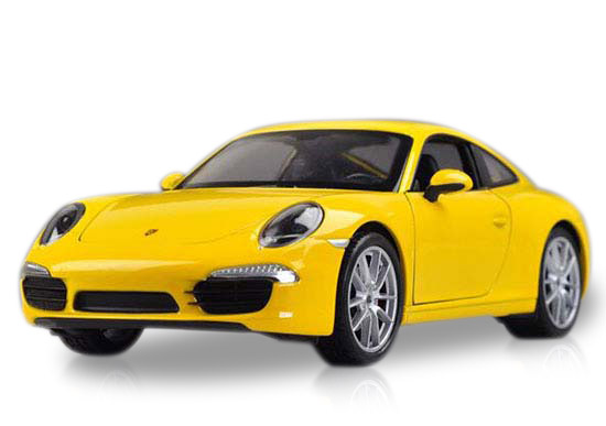 Red /Yellow Welly 1:24 Scale Diecast Porsche 911 Carrera S Model