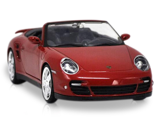 1:24 Red Motormax Die-Cast Porsche 911 Turbo Cabriolet Model
