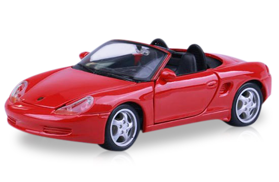 Red 1:24 Scale Maisto Die-Cast Porsche Boxster Model