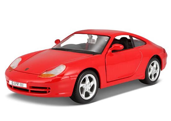 1:24 Scale Maisto Red Die-Cast 1997 Porsche 911 Carrera Model