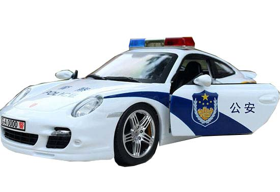 1:24 Scale Police Die-cast Porsche 911 Turbo 997 Model
