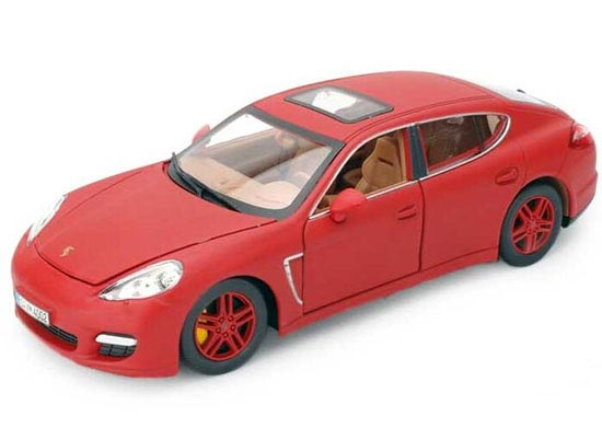 Red / Yellow 1:24 Scale Diecast Porsche Panamera Turbo Model