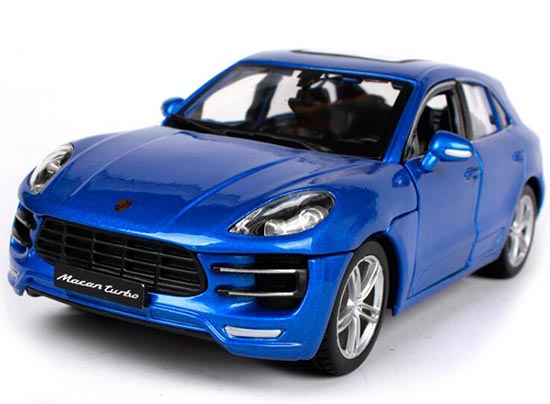 1:24 Scale Blue Bburago Assembly Diecast Porsche Macan Model