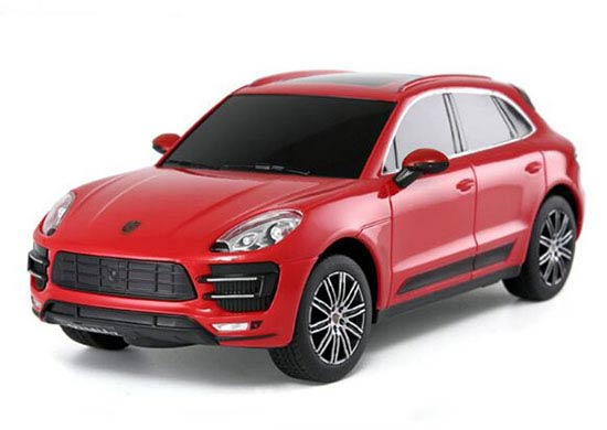 1:24 Scale Red / Yellow Kids Rastar R/C Porsche Macan Turbo Toy
