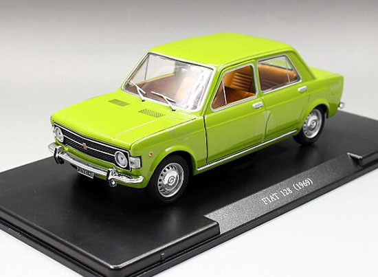 1:24 Scale Green Whitebox Diecast 1969 Fiat 128 Model