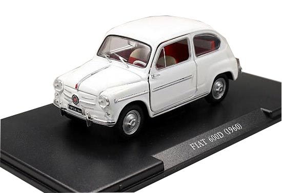 White 1:24 Scale Whitebox Diecast 1960 Fiat 600D Model