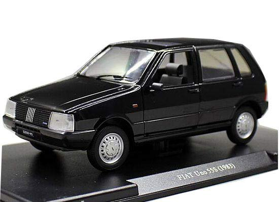 Black 1:24 Scale Whitebox Diecast 1983 Fiat Uno 55S Model