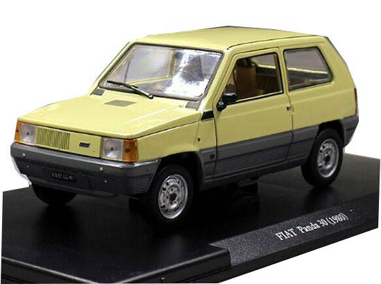 1:24 Scale Yellow Whitebox Diecast 1980 Fiat Panda 30 Model