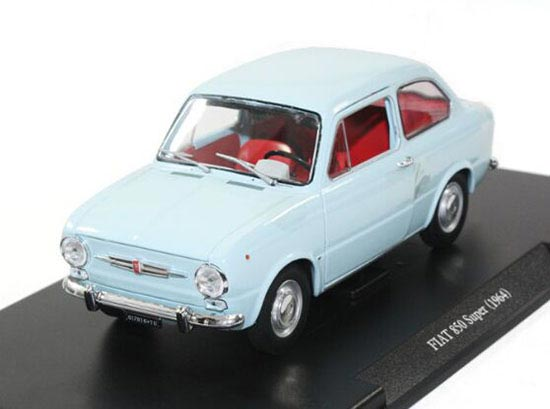1:24 Scale Blue Whitebox Diecast 1964 Fiat 850 Super Model
