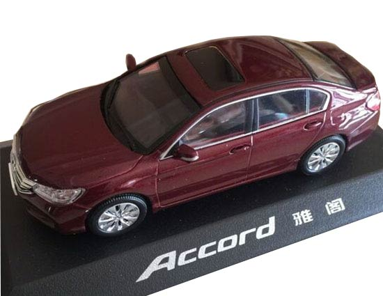 Wine Red 1:43 Scale Diecast Honda Accord Model