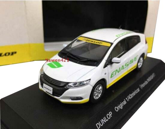 1:43 Scale White J-Collection Diecast Honda Insight Model