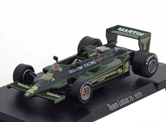 1:43 Scale Green Diecast 1979 Lotus 79 F1 Racing Car Model