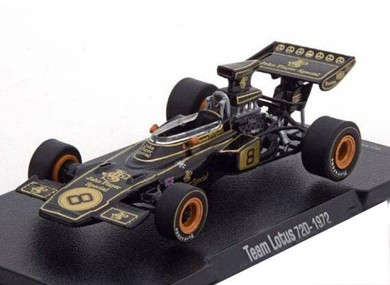 1:43 Scale Black Diecast 1972 Lotus 72D F1 Racing Car Model