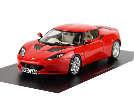 Red 1:43 Scale Diecast 2009 Lotus Evora Model