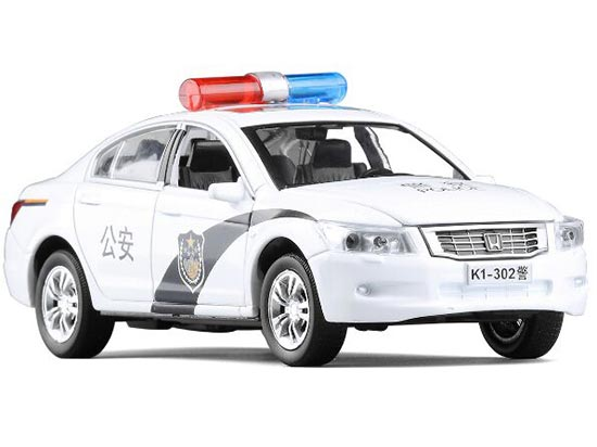 White Kids 1:32 Scale Police Die-cast Honda Accord Toy