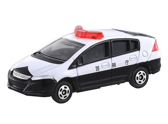 1:60 White Tomy Tomica Diecast Honda Insight Patrol Car Toy