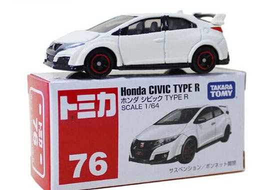 White 1 64 Tomy Tomica No 76 Diecast Honda Civic Type R Toy Nb1t606