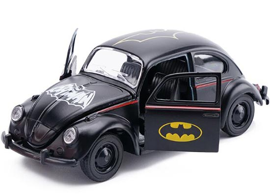 Kids Black Batman Theme Diecast VW Beetle Toy