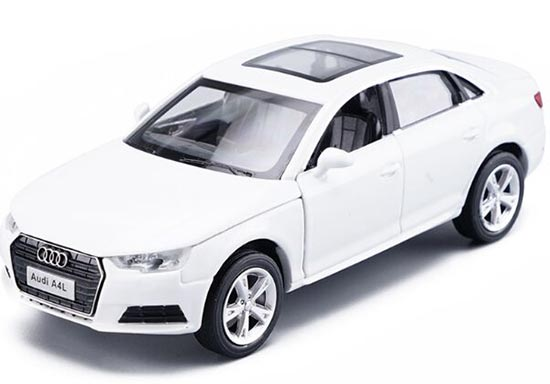 White / Silver Kids 1:32 Scale Diecast Audi A4L Toy
