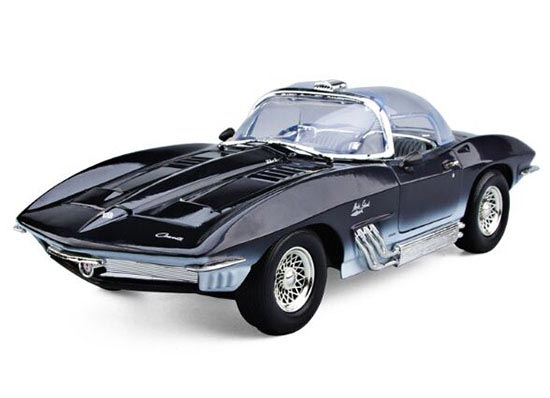 Black 1:18 MotorMax Diecast 1961 Corvette Mako Shark Model