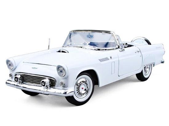 1:18 Red / White MotorMax Die-Cast 1956 Ford Thunderbird Model