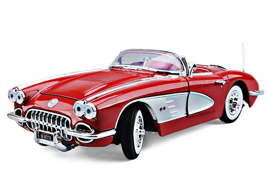 1:18 Scale MotorMax Diecast 1958 Chevrolet Corvette Model