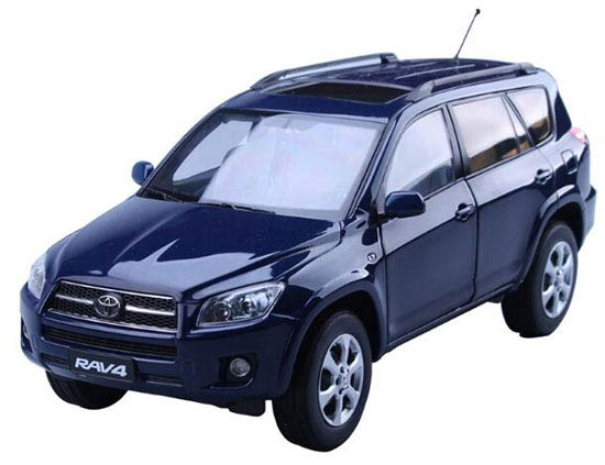 Blue 1:18 Scale Diecast Toyota RAV4 Model