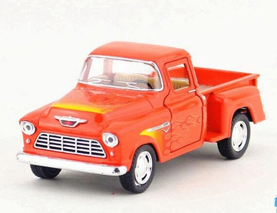 Blue / White / Red / Black Die-Cast Chevrolet Pickup Truck Toy