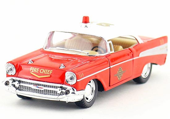 1:40 Scale Kids Red 1957 Diecast Chevrolet Fire Engine Toy