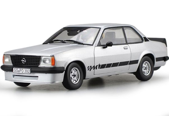 Silver 1:18 Scale Sunstar Die-Cast Opel Asconae Sport Model