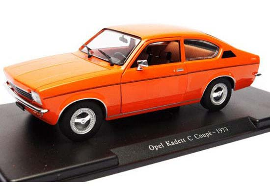 Orange 1:24 Whitebox Die-Cast 1973 Opel Kadett C Coupe Model