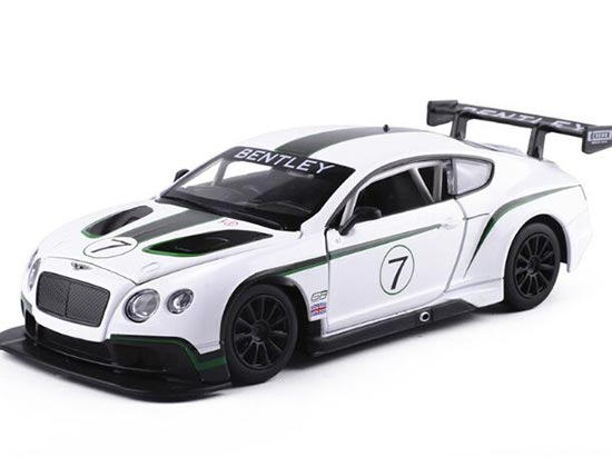 White 1:24 Scale NO.7 Diecast Bentley Continental GT3 Model